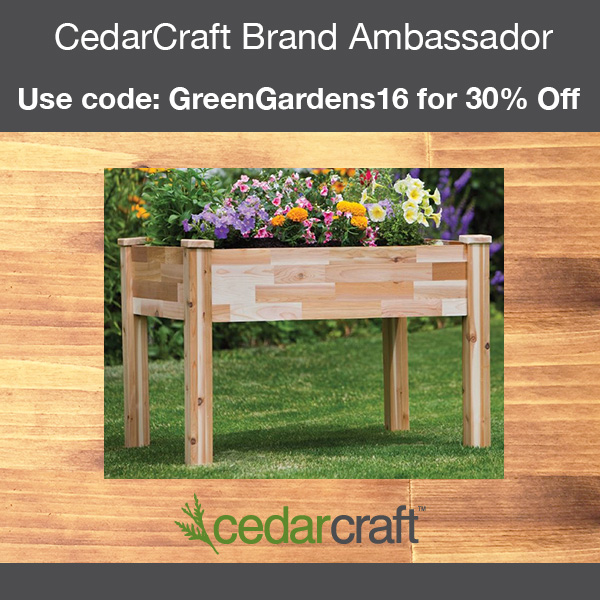 CedarCraft Banner, use code 'GreenGardens' for 30% off