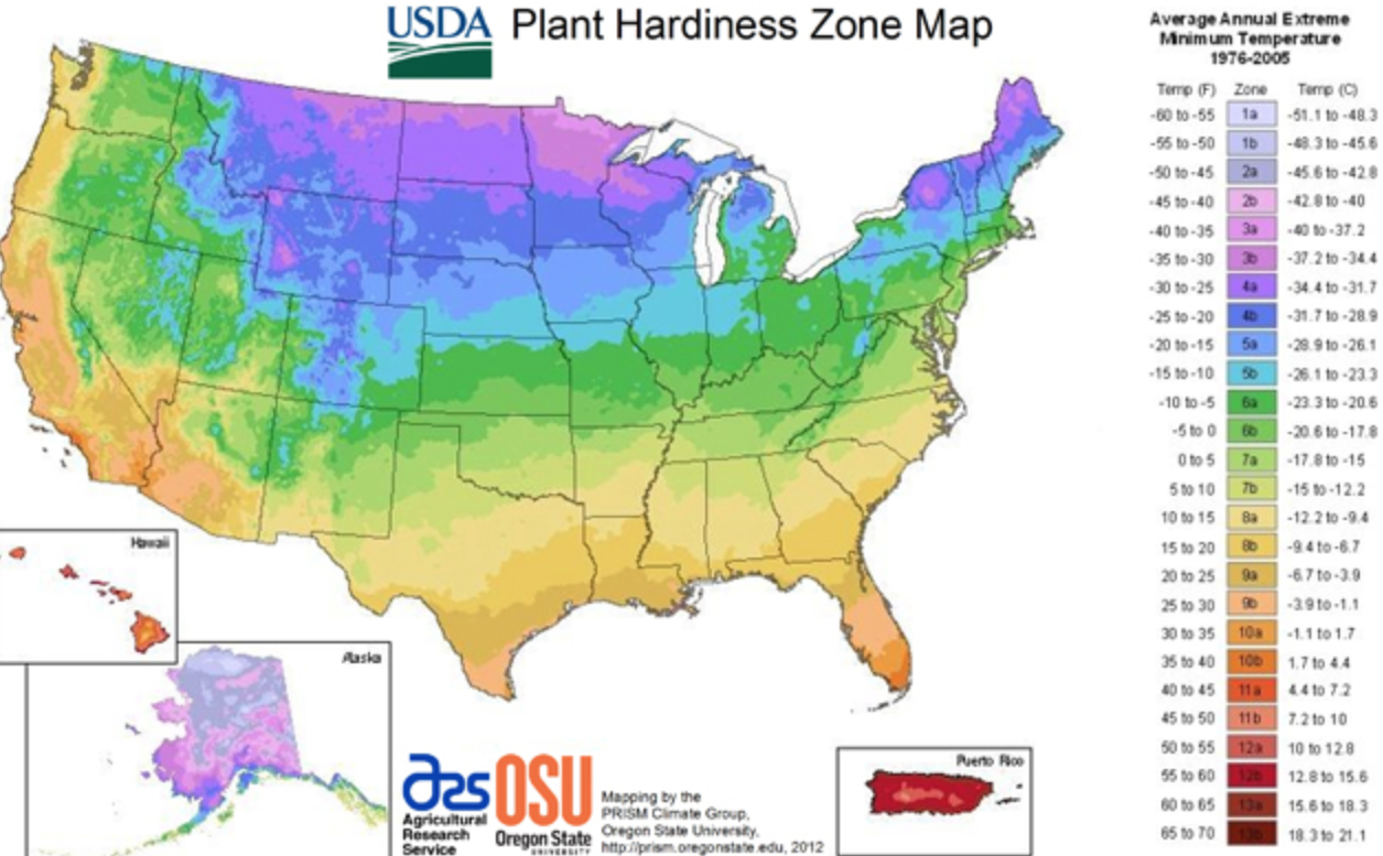 Map Downloads USDA Plant Hardiness Zone Map USDA Plant Hardiness - Us time zone map 2015