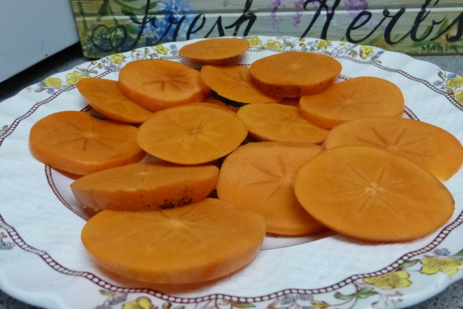 sliced persimmons Anne of Green Gardens